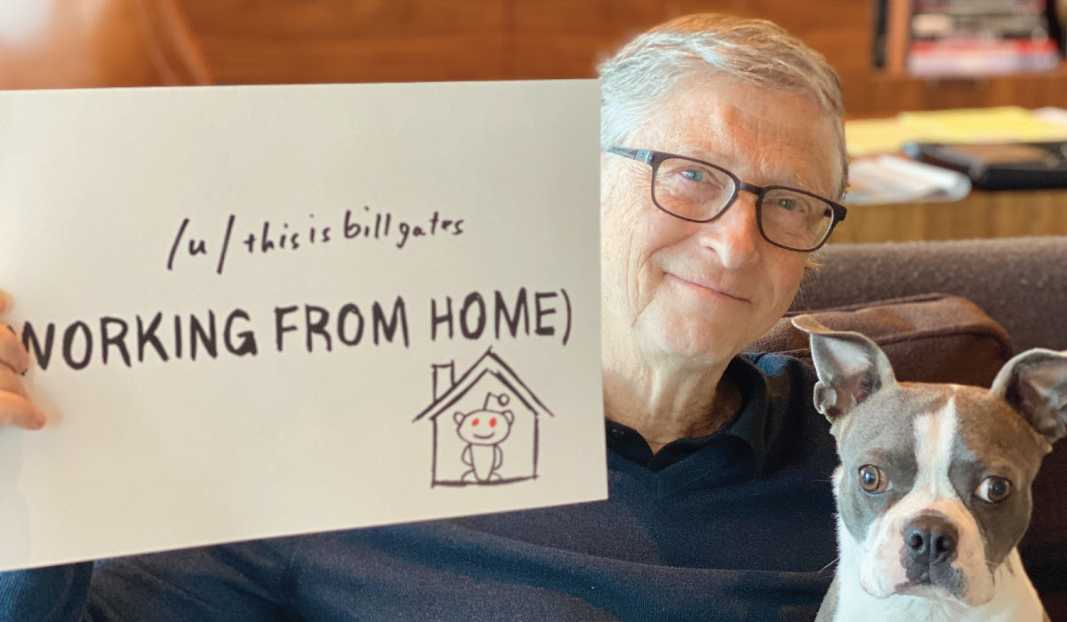 Bill Gates and his dog