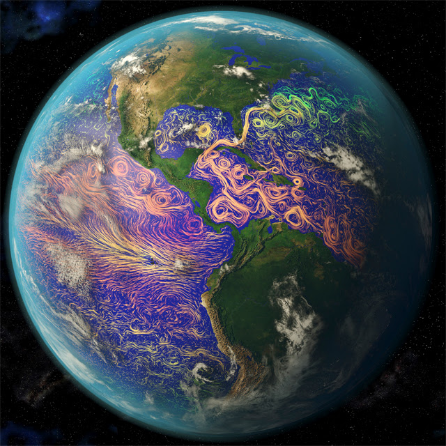 Ocean currents off the Americas image Science Photo Library