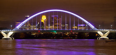 Lowry Bridge purple