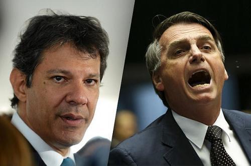 Bolsonaro ya dijo que seguirá su campaña del mismo modo, Haddad intenta desde el minuto 1 agrupar al campo democrático - Créditos: Ilustración: Indymedia Argentina