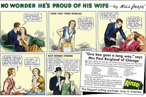 A 1934 advertisement for laundry soap.