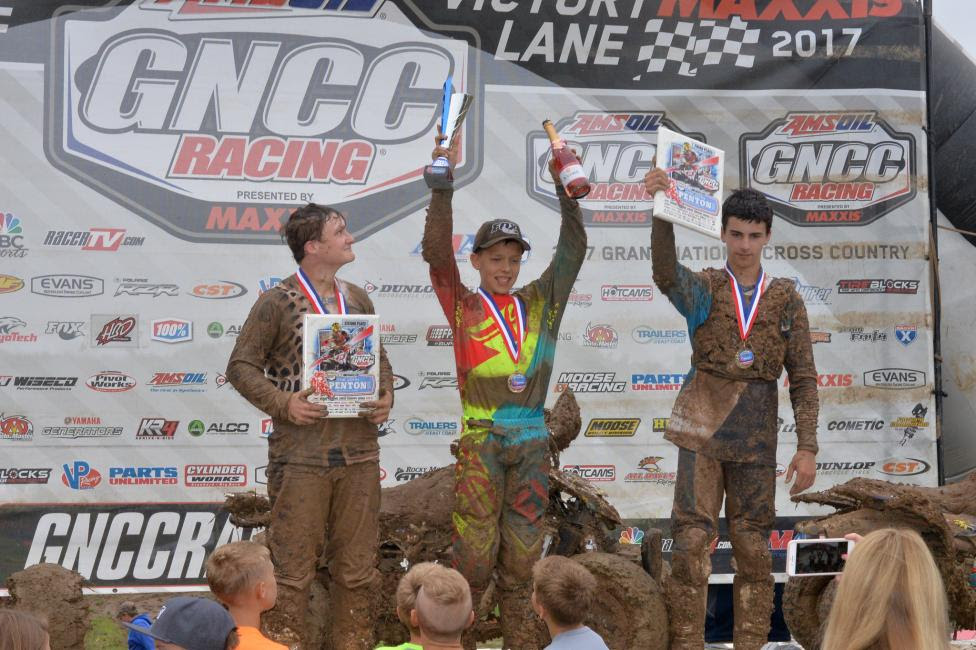 Youth Overall Podium: (2) Casey Simmons, (1) Layne McCormick, (3) Carter Holder.