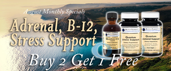 Adrenal, B-12, Stress Support Monthly Specials