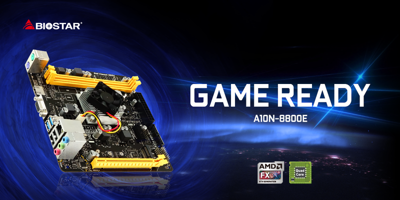 BIOSTAR Launches Gaming-Ready A10N-8800E SoC Motherboard! content A10N 8800E Banner  2
