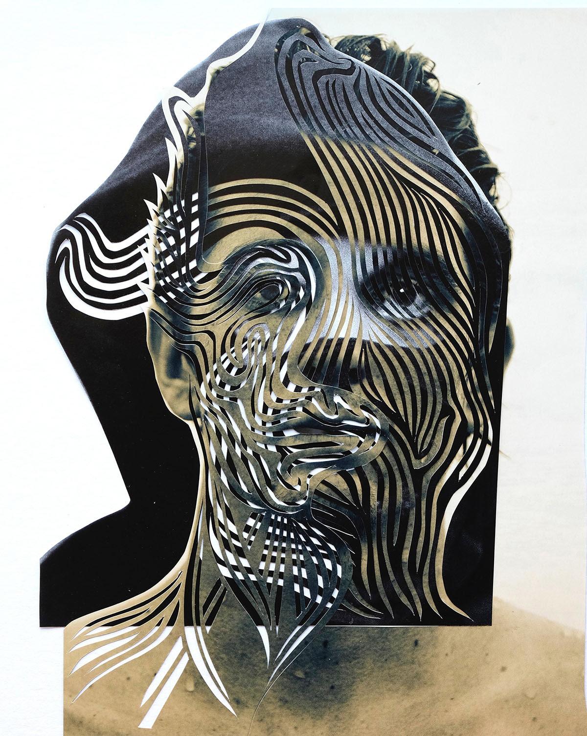 paper art portrait