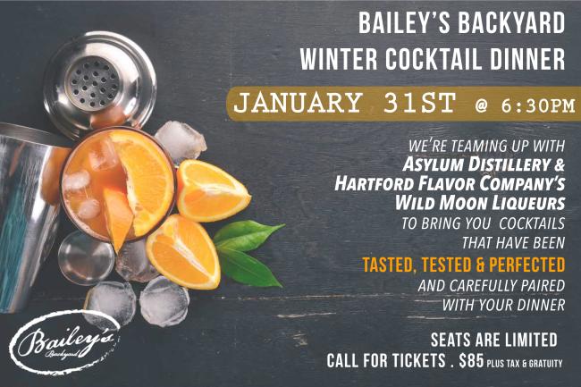 Bailey's Cocktail Dinner 1-31-19