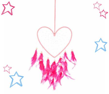 Pink Heart Dreamcatcher