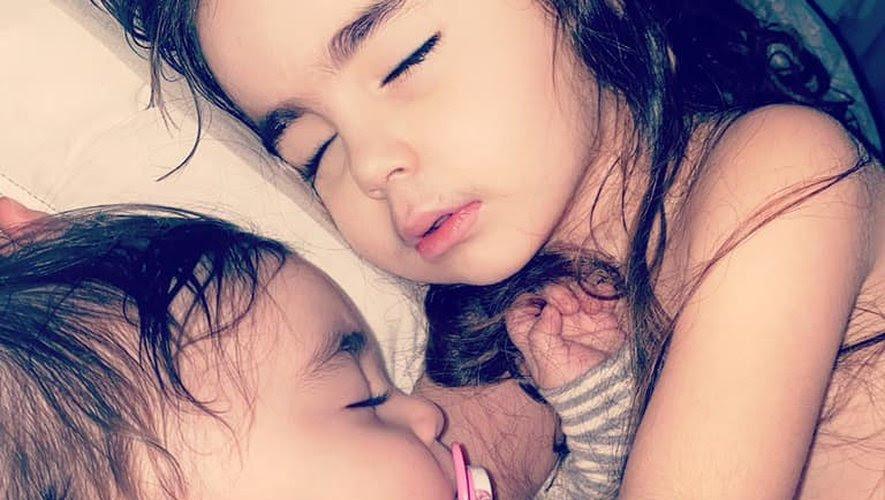 Yaël 4 ans et Mila 10 mois,sont atteintes du COVID-19./Photo DR