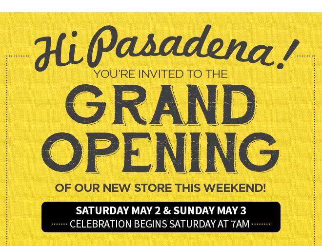 Hi Pasadena!