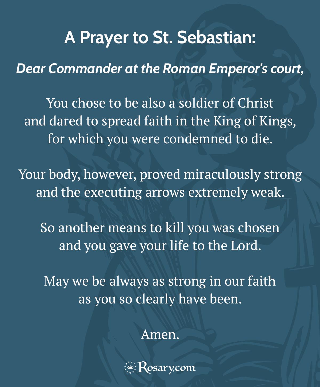 St. Sebastian Prayer