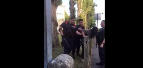 Extrait de la vidéo réalisée lors de l'interpellation d'Amal Bentounsi