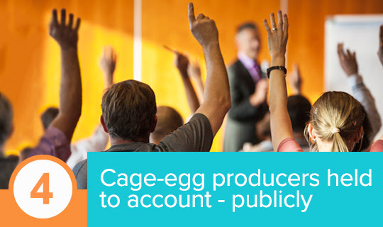 Cage-egg industry reps got some tough questions at public forums