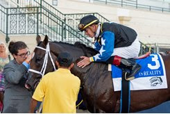 Chance It after winning the In Reality division of the Florida Sire Stakes at Gulfstream Park