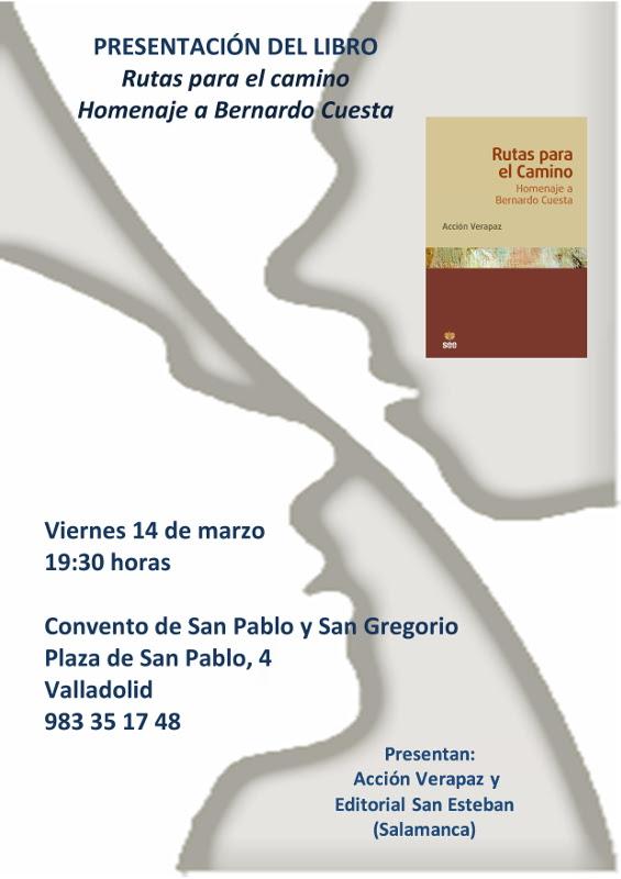 Cartel Presentacion Libro Bernardo Valladolid