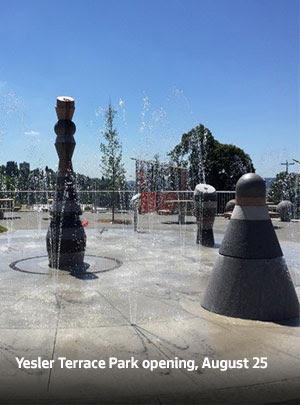 Yesler Terrace Park opening, August 25