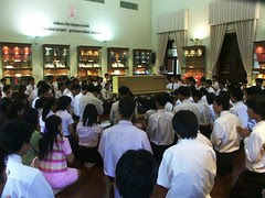 1st yr Sport Science Students are introduced to Tipitaka culture and student spiritual activities on campus