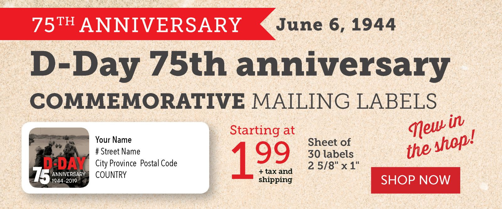 D-DAY 75th Anniversary Mailing Labels