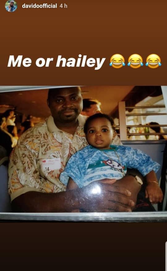Davido shares adorable throwback photos of himself with his parents