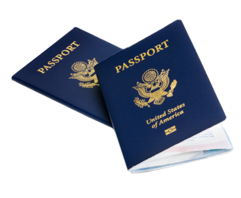 Image of passports takes you to information on getting a passport