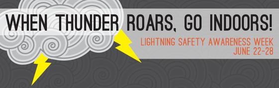 When Thunder Roars, Go Indoors Lightning Awareness Week June 22-28,2014