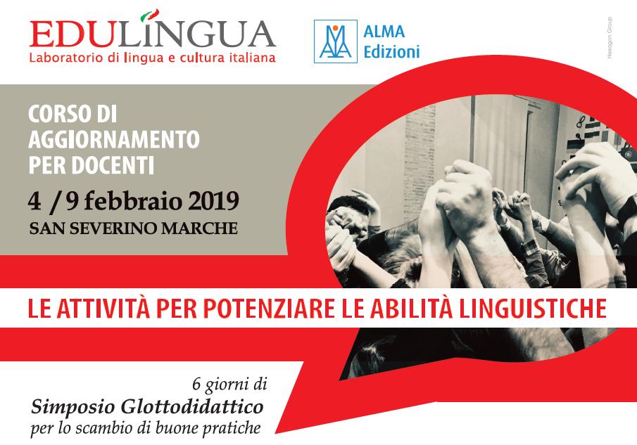 Simposio Glottodidattico per insegnanti di italiano, 4 - 9 febbraio 2019