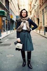 high boots longer skirt ann street studio