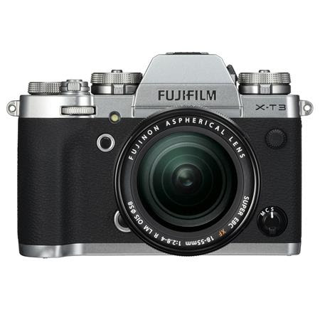 X-T3 26.1MP Mirrorless Digital Camera with XF 18-55mm f/2.8-4 R LM OIS Lens, Silver