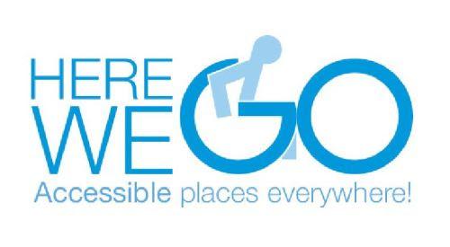 Logotipo Here We Go. Locais acessíveis em toda a parte!