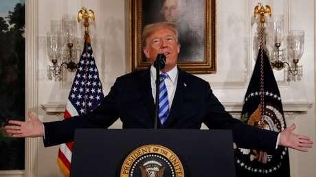 El presidente de EE.UU., Donald Trump. Washington 8 de mayo de 2018.
