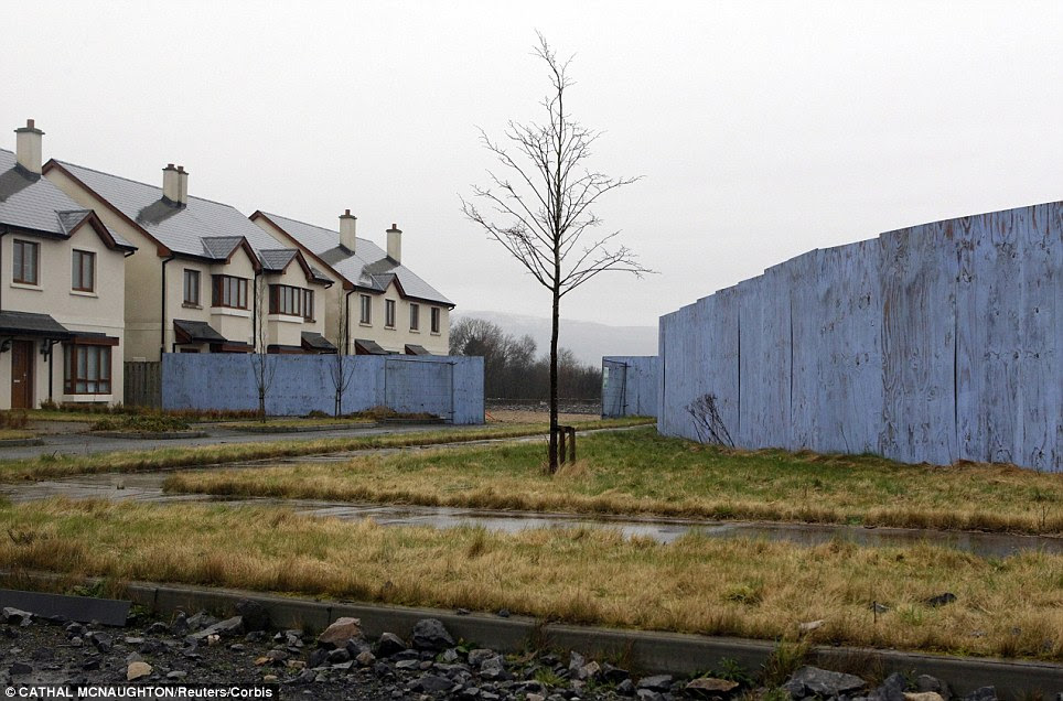 The Waterways in the village of Keshcarrigan, County Leitrim, yet another example of an Irish ghost estate - an empty and unsold housing development