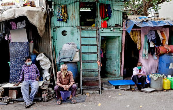 Seven people have been infected so far by the novel coronavirus in Dharavi slum in Mumbai, India.