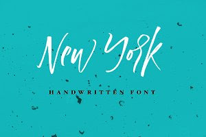 New York Handwritten Font