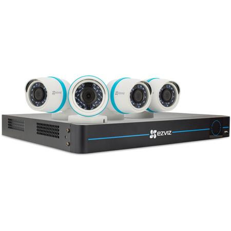 BN-1844A2 8-Channel NVR with 4x 4MP Outdoor Network Bullet Cameras and 2TB HDD
