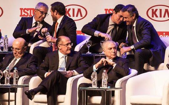 Juiz Sergio Moro(PSDB/PR) Aecio Neves(PSDB/MG) e junto com José Serra(PSDB/SP), Geraldo Alckmin(PSDB/SP e o golpista michel Temer (PMDB/SP)