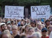 En Washington. D.C. manifestantes exigen el cierre de los centros de detención de migrantes.