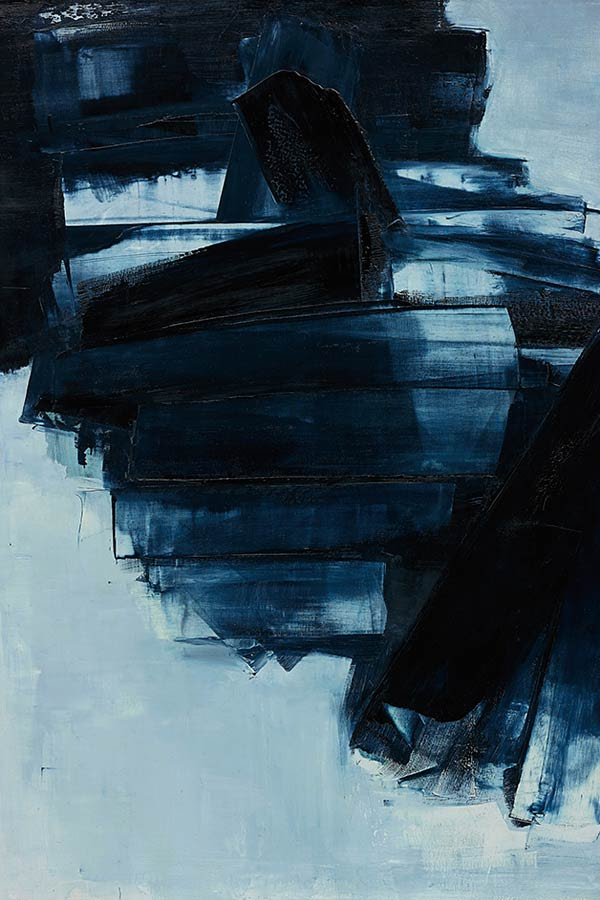 Featured image: Lot 26, Pierre Soulages, Peinture 162 x 130 cm, 14 Avril 1962, 1962