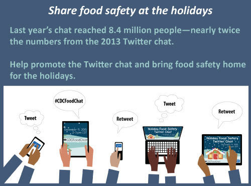 Help promote the Twitter chat and bring food safety home for the holidays.