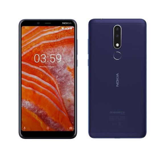 Sulikezdés - Nokia 3.1 PLUS Dual SIM kártyafüggetlen okostelefon, kék