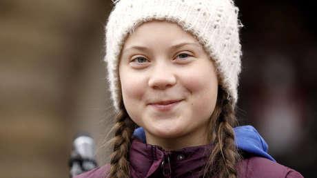 La joven activista Greta Thunberg  en Hamburgo (Alemania) el 1 de marzo de 2019.