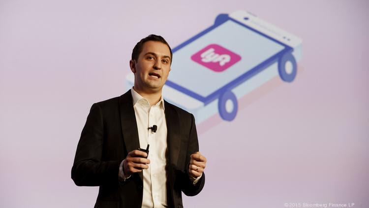 John Zimmer, co-founder and president of Lyft Inc. Photographer: Patrick T. Fallon/Bloomberg