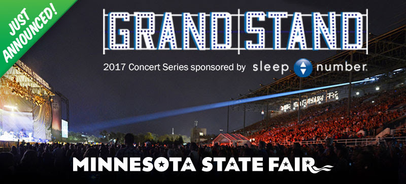 2017 Grandstand Concert Series. Sponsored by Sleep Number.