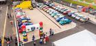 Imagem aérea do parque de apoio da primeira etapa do MitCup 2019 (Divulgação)