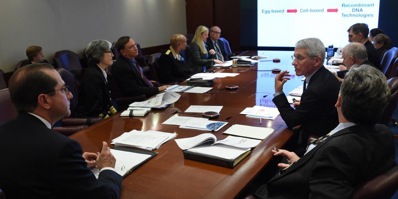 Secretary Azar meets with key HHS leaders