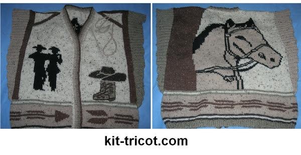poncho country tricoté main