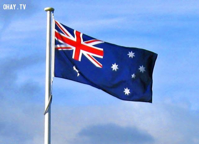 11. Úc,ý nghĩa quốc kì,lá cờ của các nước,những điều thú vị trong cuộc sống