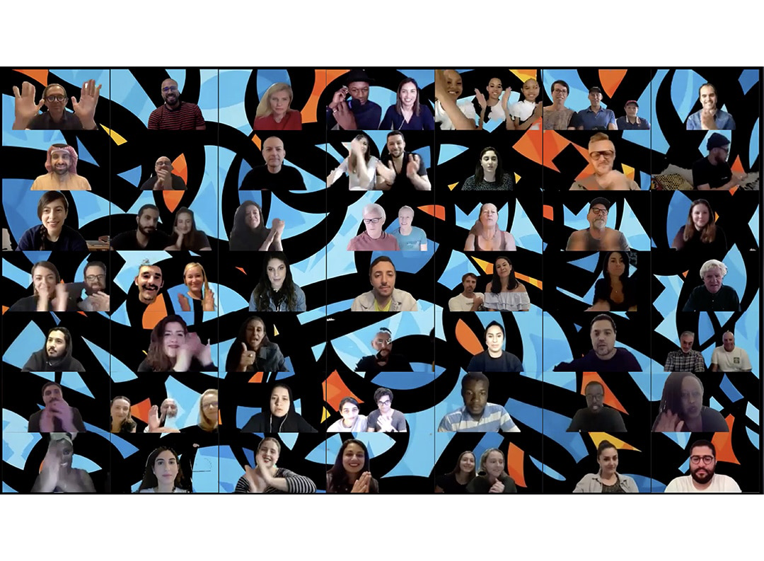 Image of eL Seeds digital gathering art piece