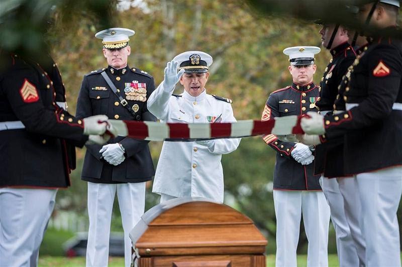 3_Tang Le John A House II at Arlington Cemetery 9.27.2018. pic 3 Folding the US Flag (1)