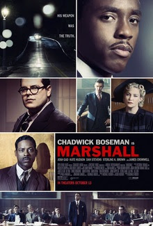 Marshall movie poster. Picture includes multiple men and women.
