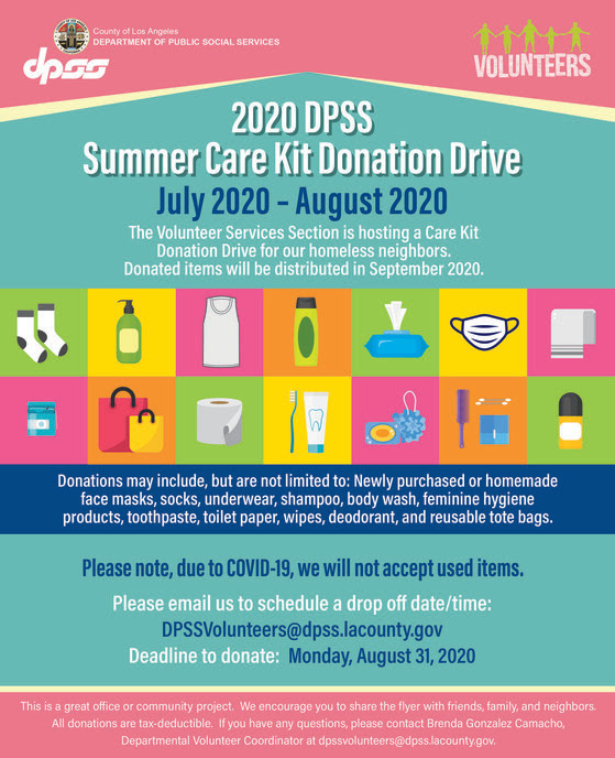 Volunteer Services Summer Care Kit