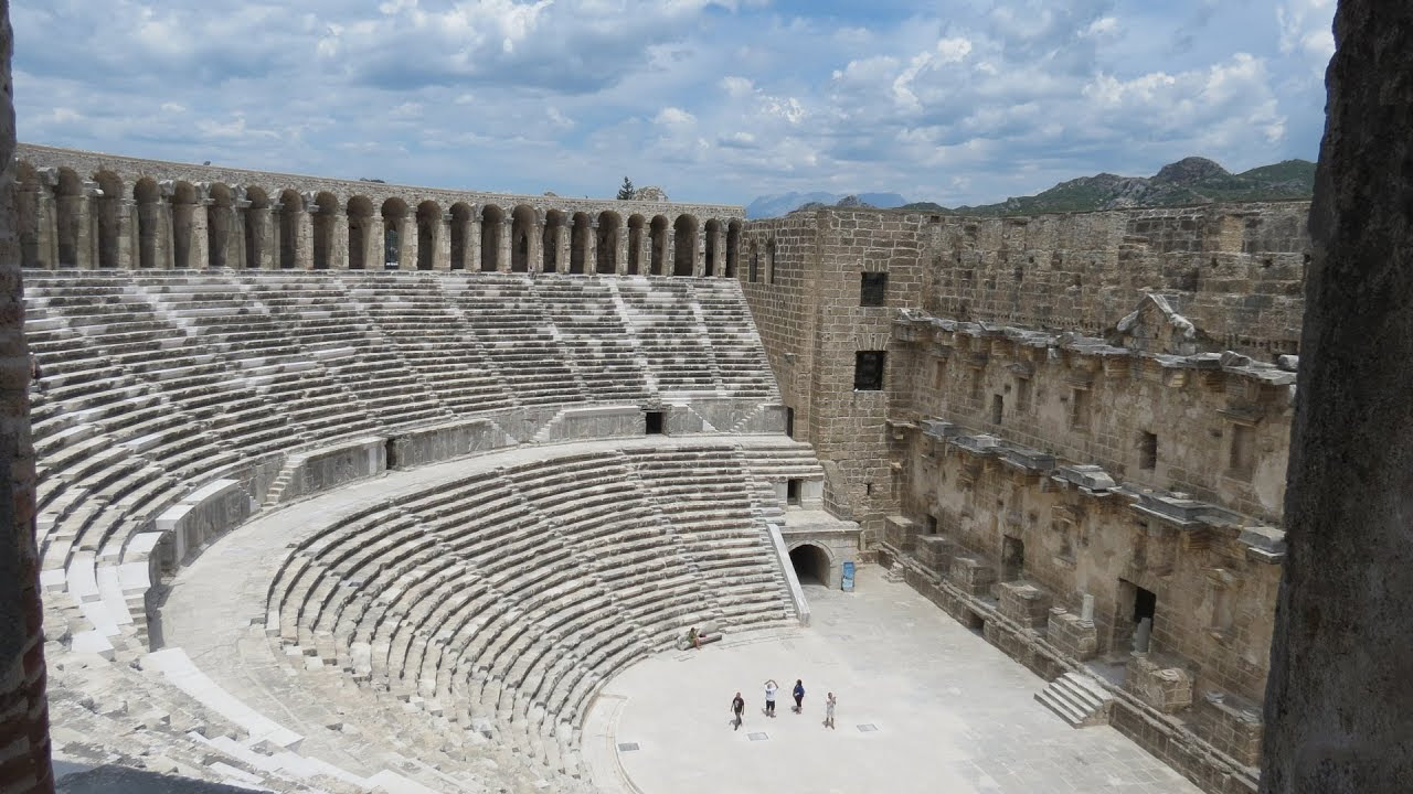 Image result for image of aspendos theatre antalya turkey